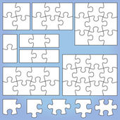 Puzzle set — Stock Vector