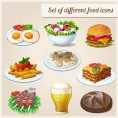 Set of different food icons. — Stock Vector