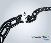 Broken chain — Stock Vector