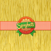 Drawn spaghetti and labels for them — Stock Vector