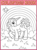 Little unicorn — Stock Vector