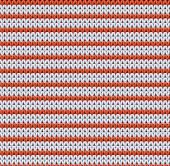 Detailed knitted striped red-and-white pattern — Stock Photo