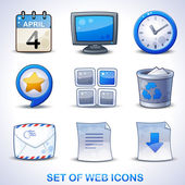 Web icons blue set — Stock Vector