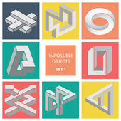 Impossible objects. Set 1. — Stock Vector
