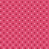 Pink hand-drawn seamless pattern of hearts. — Cтоковый вектор