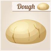 Dough. Detailed Vector Icon — Stock Vector