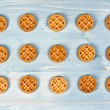 Wafer biscuits — Stock Photo #65587795