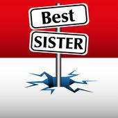 Best sister plates — Stock Vector