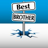 Best brother plates — Stock Vector
