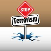 Stop terrorism — Stock Vector