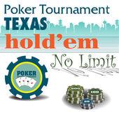 Poker tournament — Stock Vector