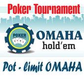 Pot limit Omaha holdem poker tournament — Stock Vector