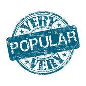 Very popular grunge rubber stamp — Stock Vector