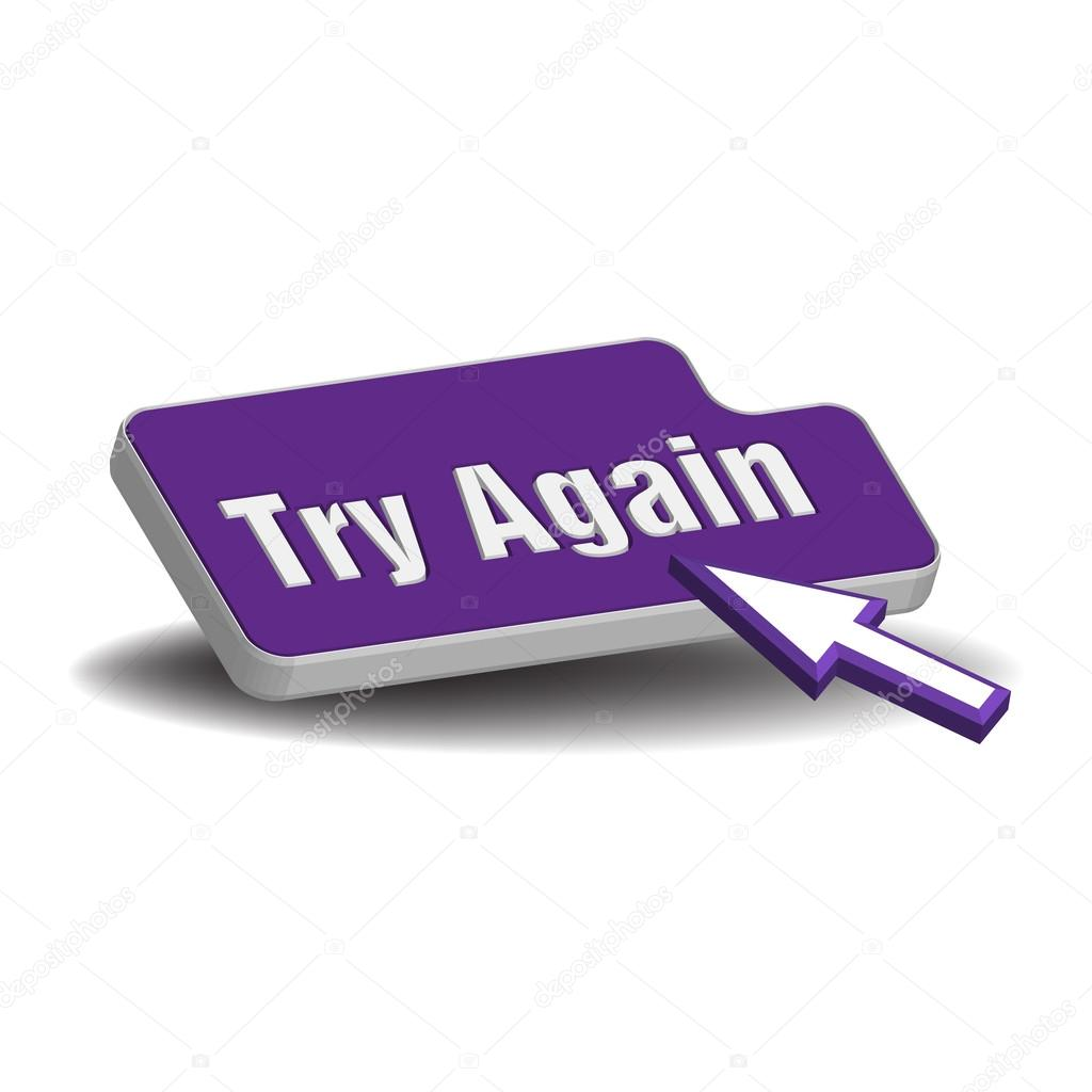 try again button � stock vector 169 oxlock 53473101