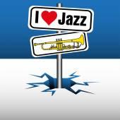 I love jazz — Stock Vector