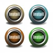 Install buttons — Vector de stock