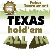Texas Holdem poker tournament — Stock Vector