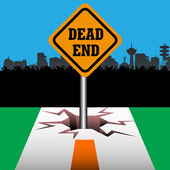 Dead end signpost — Stock Vector