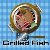 烤的鱼 — 图库矢量图片