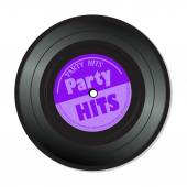 Party hits vinyl record — Stock Vector