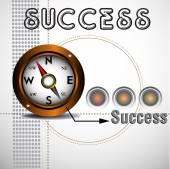 Success theme — Stock Vector