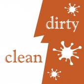 Clean and dirty — Stock Vector
