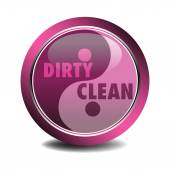 Dirty and clean — Stock Vector