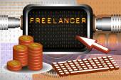 Freelance — Vector de stock