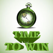 Time to win — Stock Vector