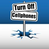 Turn off cellphones — Stock Vector