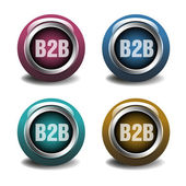Business to business buttons — Stock Vector