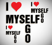 I love myself — Stock Vector