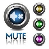 Mute buttons — Stock Vector