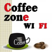 Coffee zone wi fi — Cтоковый вектор