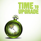 Time to upgrade — Stock Vector