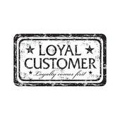 Loyal customer grunge rubber stamp — Stock Vector