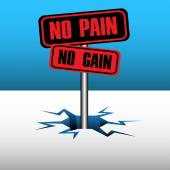 No pain no gain symbol — Stock Vector