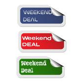 Weekend Deal stickers — Stock Vector