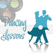 Dancing lessons — Stock Vector