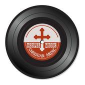 Gospel music vinyl record — 图库矢量图片