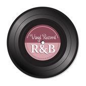 Rhythm and blues vinyl record — Stock Vector