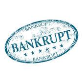 Bankrupt grunge rubber stamp — Stock Vector
