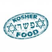 Kosher food rubber stamp — Stock Vector