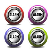 Alarm buttons — Stock Vector