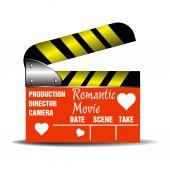 Romantic movie claperboard — Wektor stockowy