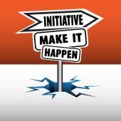 Initiative signpost — Stock Vector