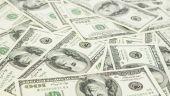 Lots of  dollar bills — Stock Photo