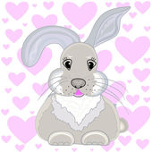 Beautiful little bunny, vector illustration — Διανυσματικό Αρχείο