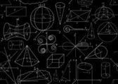 黑色和白色的矢量无缝模式与数学的数字。您可以使用任何颜色的背景 — 图库矢量图片