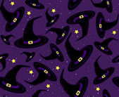 Halloween vector seamless pattern with witch hats — Stock Vector